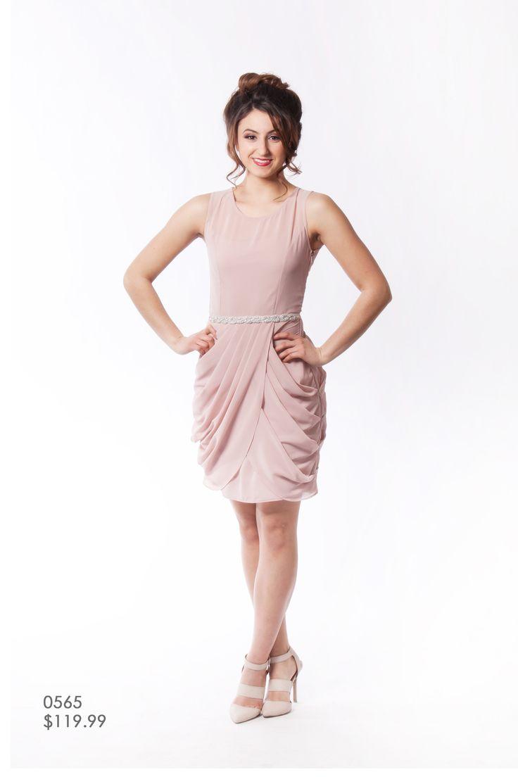 34 best hush collection images on pinterest bridesmaids canada romantic blush pink chiffon peplum knee length bridesmaid dress winnipeg canada ombrellifo Images