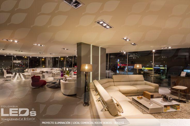 Proyecto de iluminación COLOMBIA LEDs para la exclusiva marca francesa de muebles Roche Bobois. El local comercial se iluminó con PAR30, PAR38, AR111 de Verbatim y cinta LED de alta potencia.