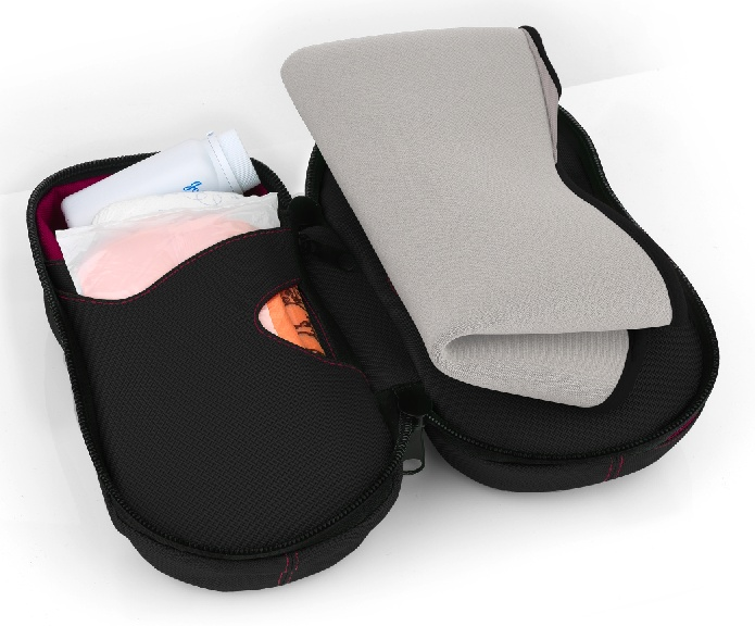 """Baby Bags """"The Fullmoon"""" with mat folded before zip up."""