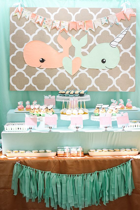 331 best baby shower ideas images on pinterest baby for Baby shower decoration ideas for twins