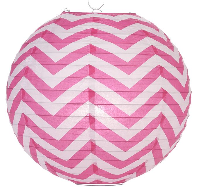 Fuchsia Chevron Paper Lantern! Site has lots of different colors and patterns!