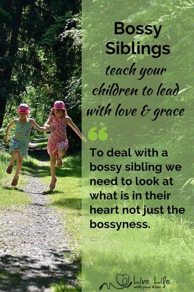 When siblings get bossy it creates tension in relationships and in the home. Teach your children to relate with humility and encouragement instead.