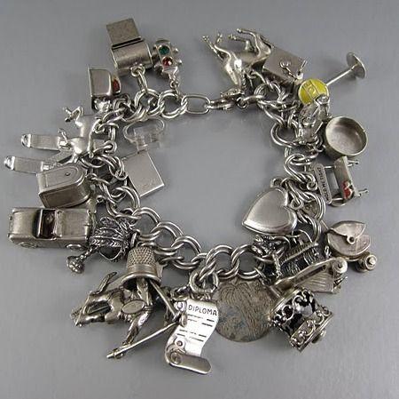 Vintage Charm Bracelet With 28 Charms | Fine Estate Sales