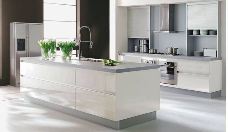 Moderne keuken cubica hoogglans snow for the home pinterest snow saunas and modern - Modern keukenplan ...