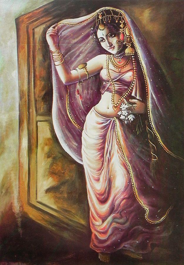Buy Poster Indian Art Paintings Female Art Painting India Art