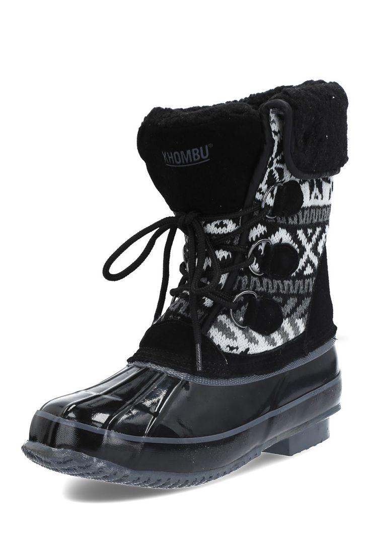 Khombu Snow-Boots Mayana, gefüttert, schwarz/grau Jetzt bestellen unter: https://mode.ladendirekt.de/damen/schuhe/boots/snowboots/?uid=d6d528f1-647f-5ea3-aa0b-4528a7eb2cb5&utm_source=pinterest&utm_medium=pin&utm_campaign=boards #snowboots #boots #schuhe #bekleidung Bild Quelle: brands4friends.de