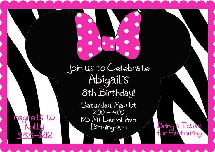 39 best images about gigi's 1st bday ideas on pinterest | zebra, Birthday invitations