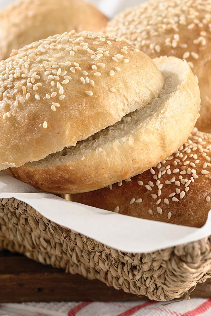 Check out Beautiful Burger Buns. It's so easy to make ...