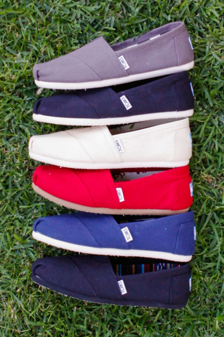 Variety is the spice of life! Click to shop TOMS Slip-on Shoes.