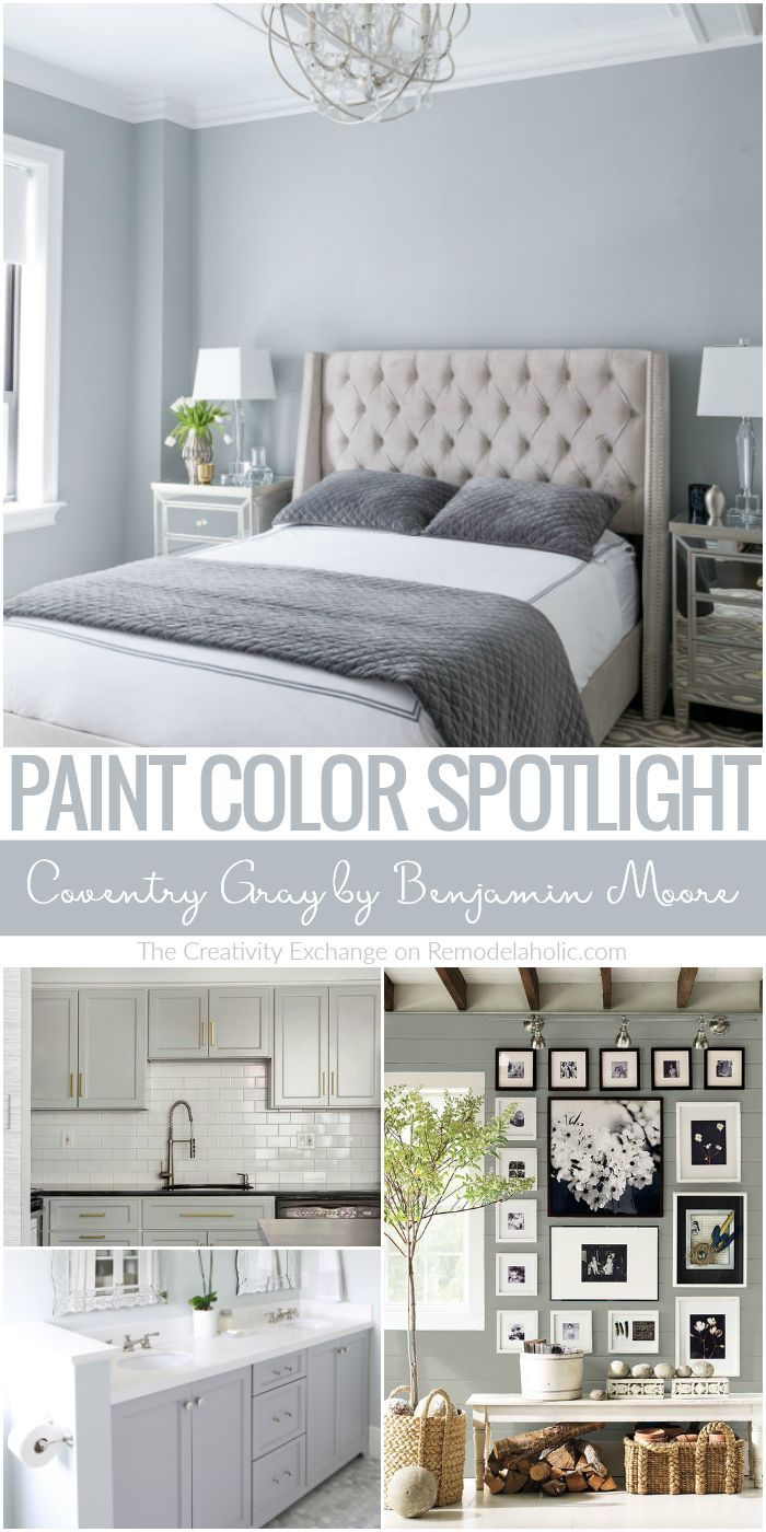 This Is The Perfect Mid Tone Gray Paint Color Coventry Gray By Benjamin Moore Is A Beautiful Neutra Gray Bedroom Walls Gray Wall Color Bedroom Grey Wall Color