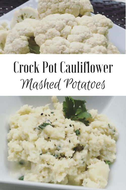 Summer is just around the corner! Try these low-carb crock pot cauliflower mashed potatoes. A healthy and simple alternative!