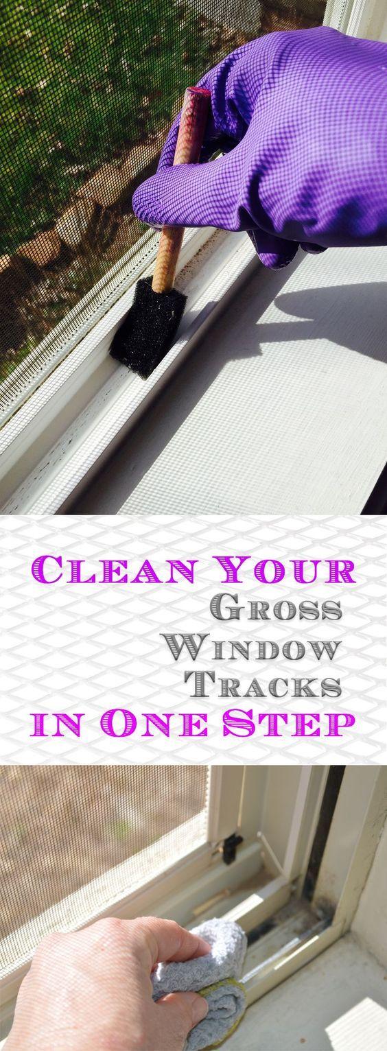 Clean Your Gross Window Tracks in One Step – Random Somethings