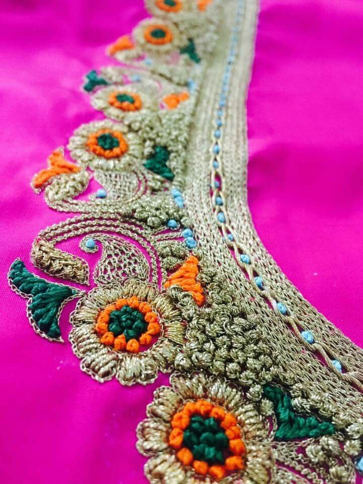 Thread work embroidery