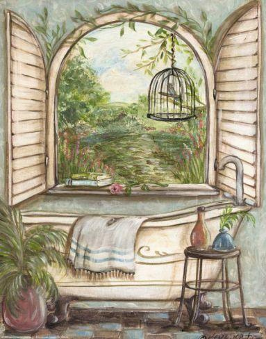 Serene Bath I Print by Kate McRostie