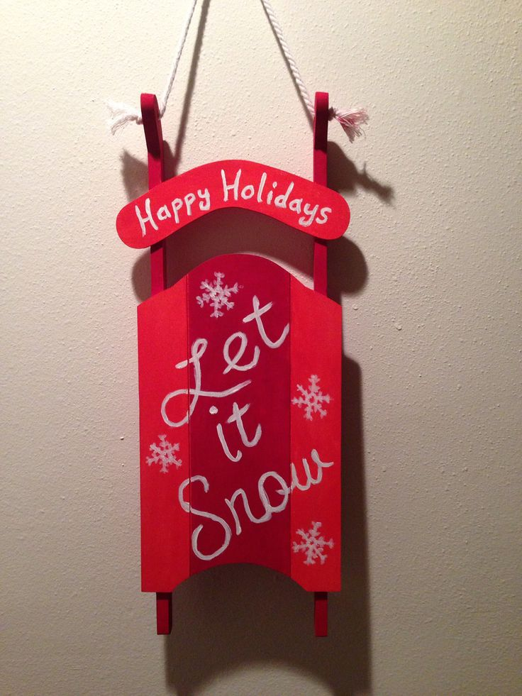 Bought the wooden sled from michaels and painted it for Michaels crafts christmas ornaments