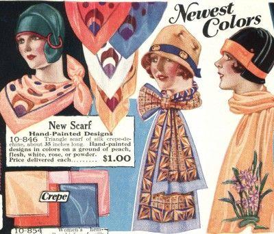 Comment nouer un foulard ou une écharpe façon 1920