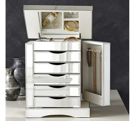 Ultimate Mirrored Jewelry Box | Pottery Barn