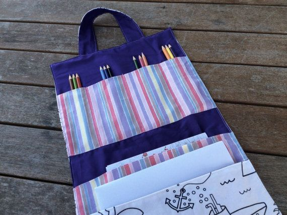 Colour Me Art Supply Folder Bag Folio by RichesandRoses on Etsy