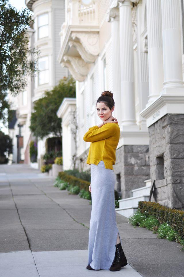 Long tight knit maxi dress tutorial - C&C