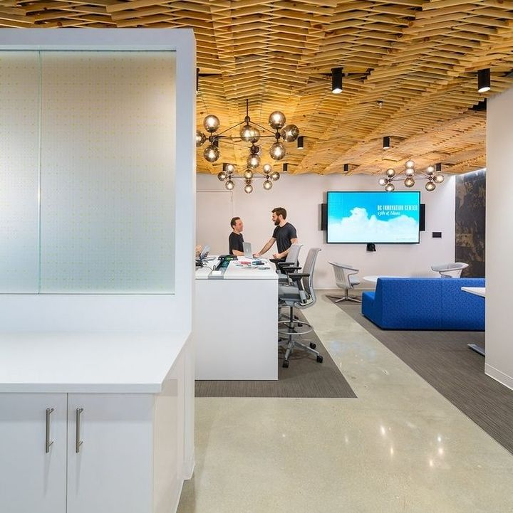 Booz Allen Hamiltons Innovation Center Office By OTJ Architects Washington DC Retail Design Blog