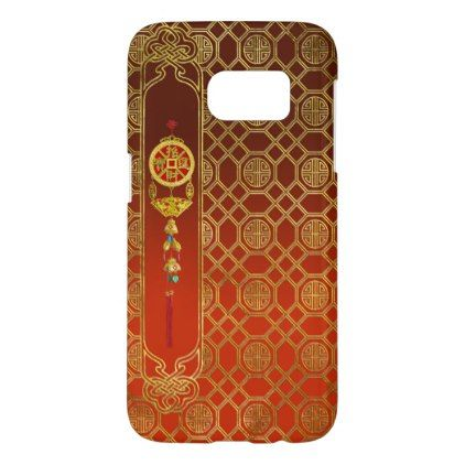 Chinese Good Luck Symbol Tasssel - Feng shui Samsung Galaxy S7 Case - good gifts special unique customize style