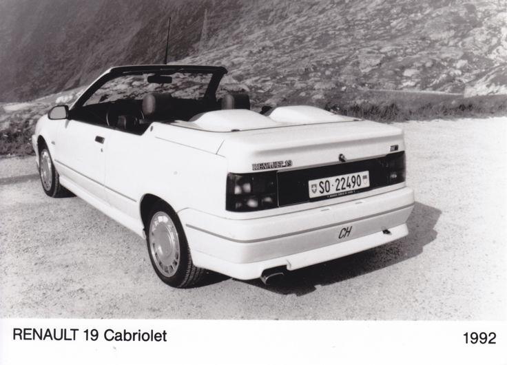 Renault 19 Cabriolet (Switzerland, 1992)
