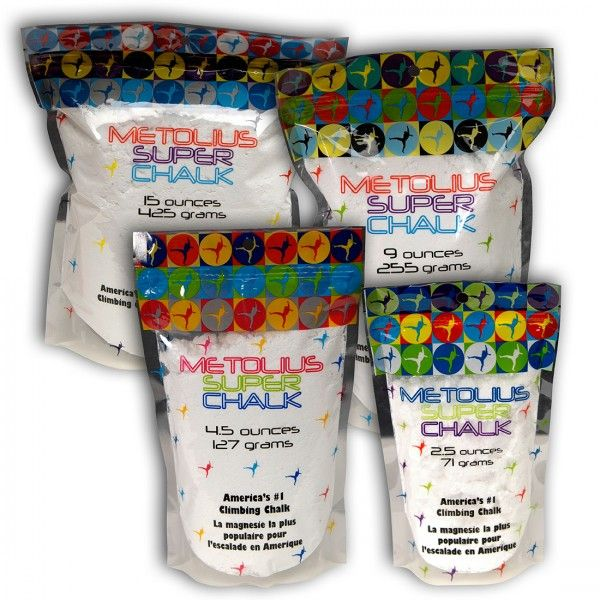 Metolius Super chalk je najpredávanejšie magnézium v Amerike! Metolius Super chalk je magnézium špeciálne vyvinuté pre horolezcov. Maximálny sušiaci účinok zabezpečuje činidlo, ktoré sa pridáva do najvyššej kvality uhličitanu horečnatého pre maximálnu absorpciu potu adosiahnutie perfektného trenia. Vyskúšajte magnézium, ktoré odporúča apoužíva aj Chris Sharma.