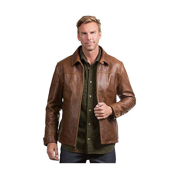 Route 66 Hipster Italian Calfskin Leather Jacket ($1,495) ❤ liked on Polyvore featuring men's fashion, men's clothing, men's outerwear, men's jackets, mens long jacket, mens hipster jackets and men's sherpa lined jacket