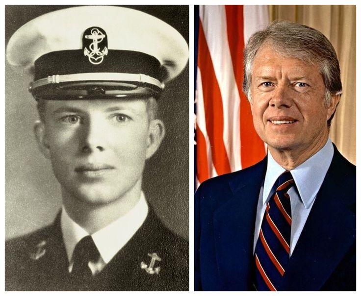 Jimmy Carter-Navy-Naval Academy-1943-53-lieutenant (39th US President)