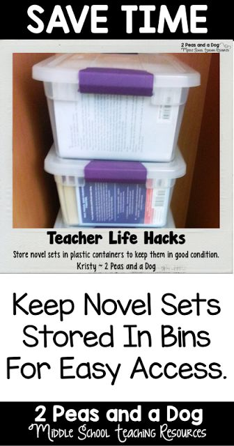 Don't let your expensive novel and literature circle sets get destroyed. Try this storage solution in your English Language Arts classroom. #classroommanagement #organization #classroomorganization