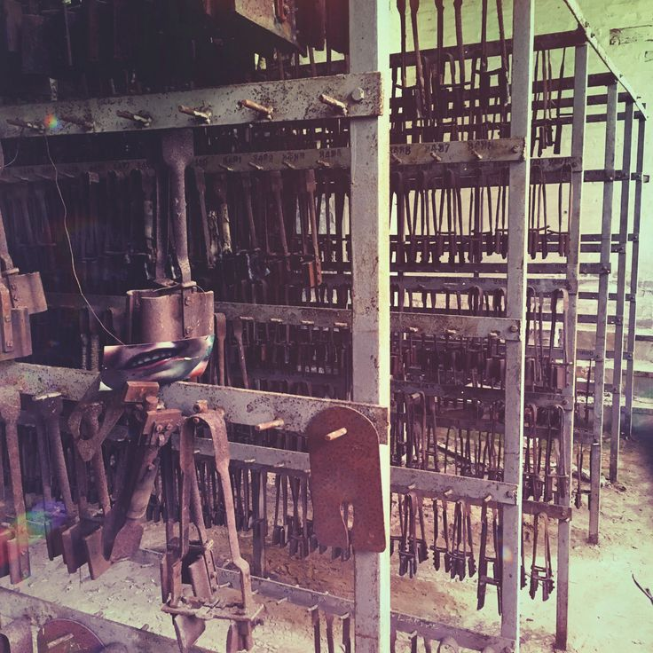 Abandoned belgian glas factory, part 24 --- tools and forms for glas manufacturing; stock room for glas products