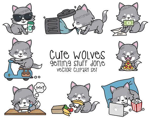 Cute Kawaii Cute Wolf Drawing