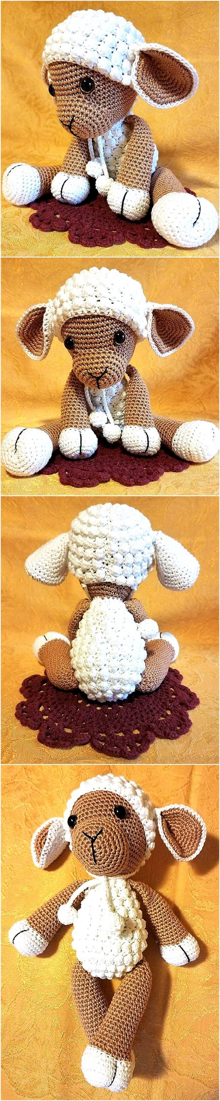 The babies love to hold soft toys in their hands while sleeping, so here is an idea for them. The color of the yarn can be selected bright and funky as well if the person who wants to make this for the baby doesn't like this color.
