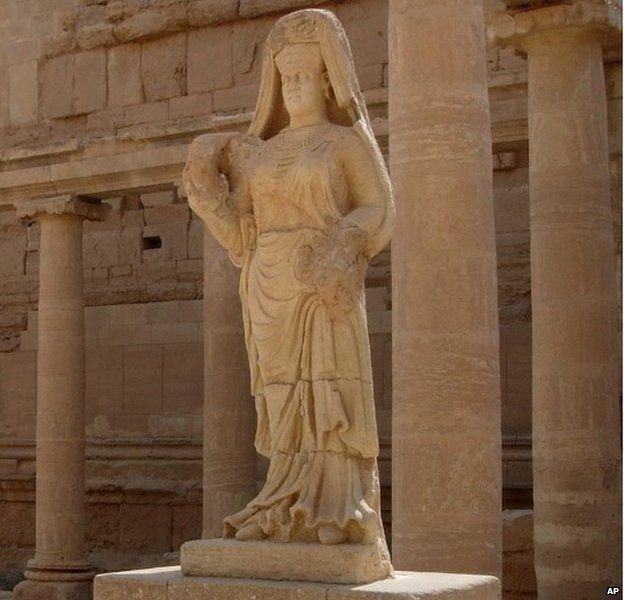 File photograph of statue of woman at Hatra