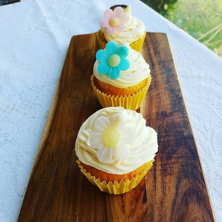 Love Baking with the Cuisine Companion: LUSCIOUS VANILLA CUPCAKES WITH VANILLA BUTTERCREAM