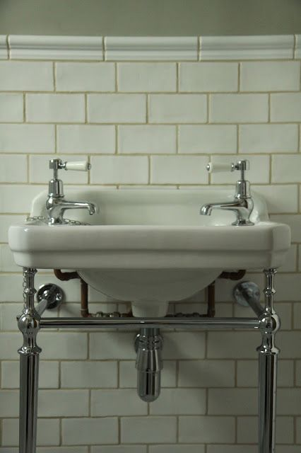 from Modern Country Style blog: My favourite sink and washstand in the world! #Burlington