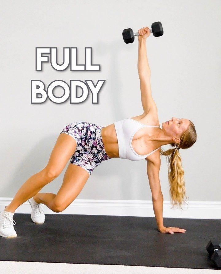 Fur Dieses Ganzkorperworkout Brauchst Du Nur 20 Minuten Zeit Und Ein Paar Kurzhanteln Fitness Influencerin Full Body Dumbbell Workout Dumbbell Workout Workout