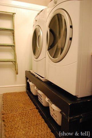 Platz für Wäschekörbe aber keine Ablage oben möglich