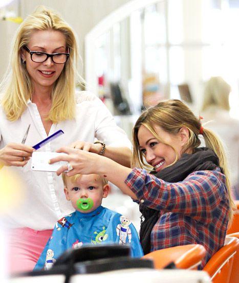 Hilary Duff's son, Luca, got his first haircut!