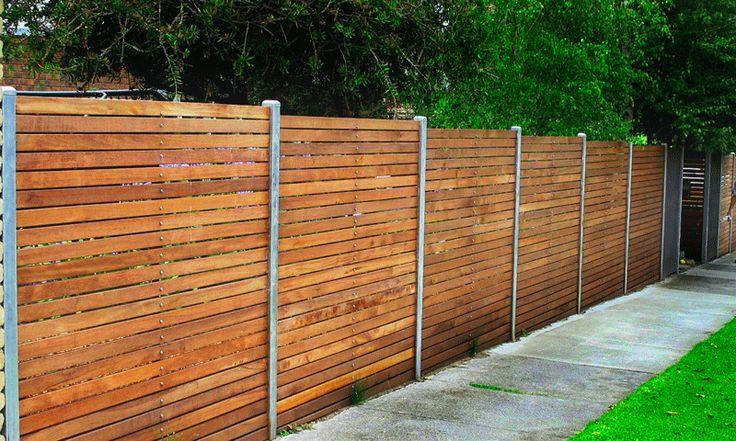 4 Horizontal Redwood Fence Horizontal Timber Boards