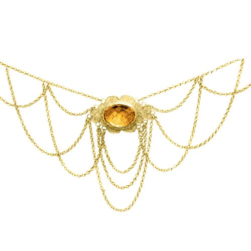 estate citrine fancy necklace