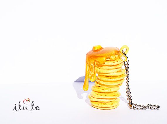 брелок подвеска утренний завтрак блины с джемом блинчики от IluLe