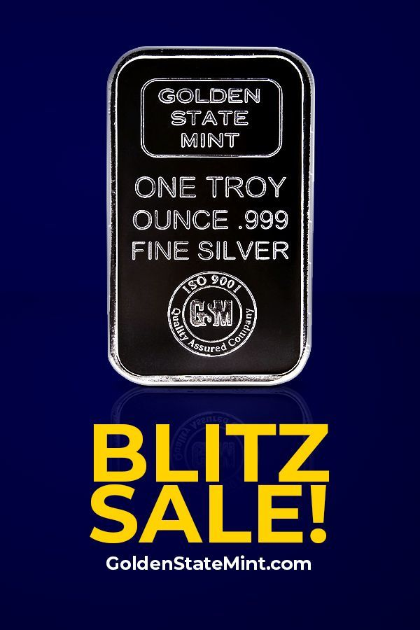 Precious Metals 1 Oz Golden State Mint Silver Bar Silver Bars Silver Bullion Silver