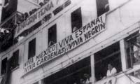 El Sinaia en el puerto de Veracruz, 13 de junio de 1939. Imagen tomada del libro: Verónica Rivera Suárez y Raúl Godínez, México a través de los Mayo. Paco y Faustino Mayo, México, Segob, AGN, Conaculta-Fonca, 2002, p. 49.