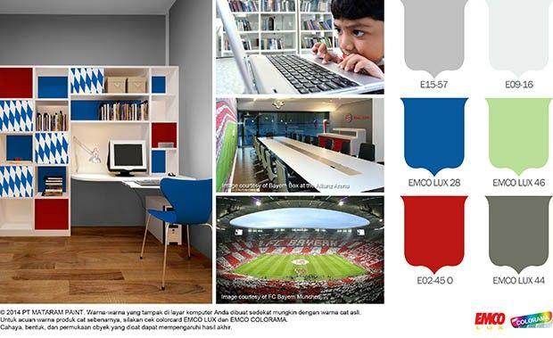 Ruang Belajar Efektif ala Bayern Munchen #Trend #Lifestyle http://matarampaint.com/detailNews.php?n=126