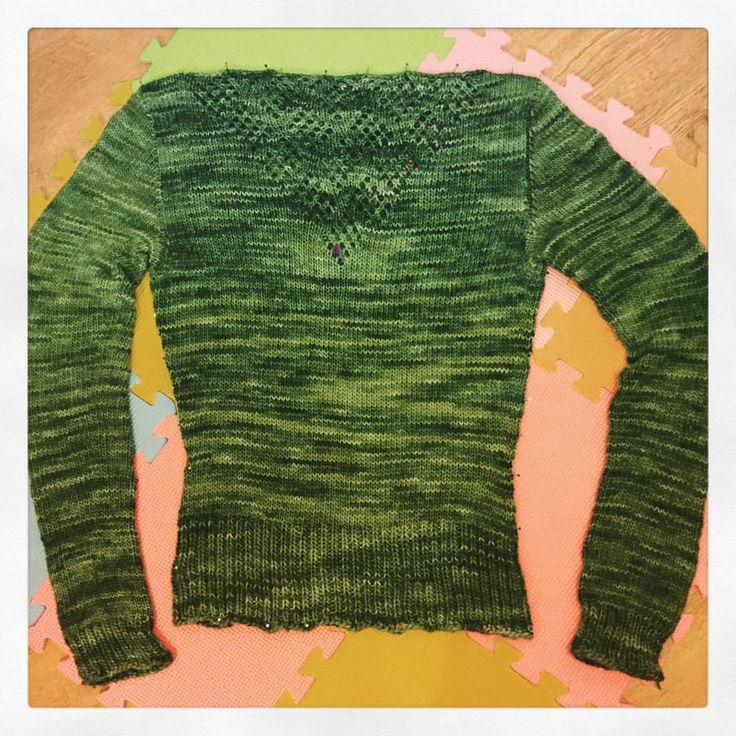 Andi Satterlund Aiken jumper in Malabrigo worsted. Started before Christmas 2016 but finished in early Jan 2017