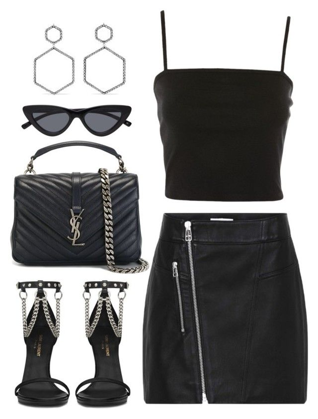 """Untitled #3687"" by camilae97 ❤ liked on Polyvore featuring Topshop, Yves Saint Laurent and Isabel Marant"