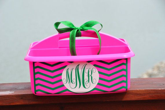Personalized Caddy/ Shower Caddy/ Dorm Room/ Teacher Supplies/ Cleaning Supplies on Etsy, $18.00