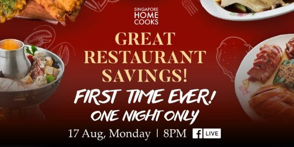 Enjoy Great Restaurant Saving With Singapore Home Cooks Tonight Only Great Restaurants Cooking Food Menu