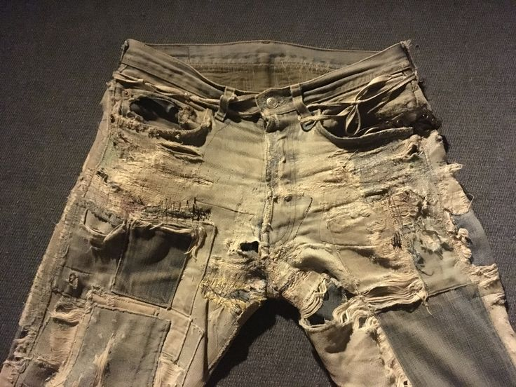 Levis. Patched. Worn out. Boro.